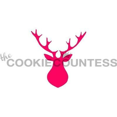 Buck Head Cookie Stencil by Cookie Countess