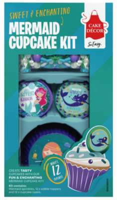 Mermaid Wafer Cupcake Decorating Kit