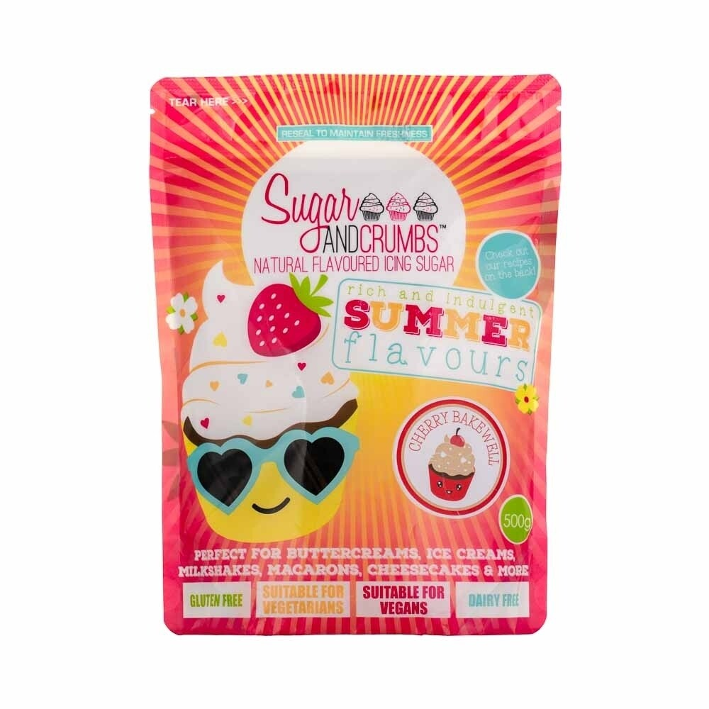 Sugar and Crumbs Cherry Bakewell Flavoured Icing Sugar