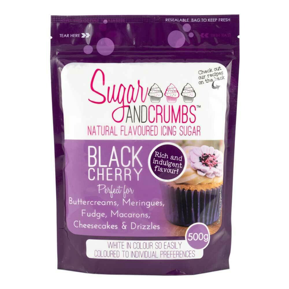 Sugar and Crumbs Black Cherry Flavoured Icing Sugar