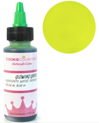 Cookie Countess - Glowing Green edible airbrush color 2oz