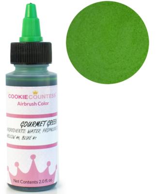 Cookie Countess - Gourmet Green edible airbrush color 2oz