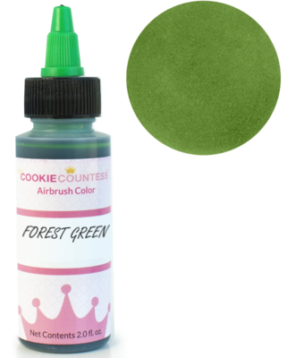 Cookie Countess - Forest Green edible airbrush color 2oz