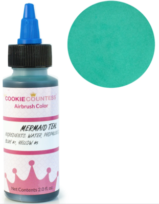 Cookie Countess - Mermaid Teal edible airbrush color 2oz
