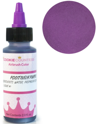 Cookie Countess - Positively Purple edible airbrush color 2oz