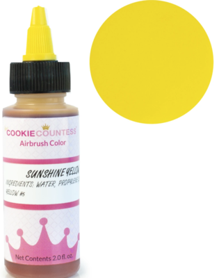 Cookie Countess - Sunshine Yellow edible airbrush color 2oz