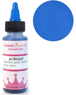 Cookie Countess - Ultra Blue edible airbrush color 2oz