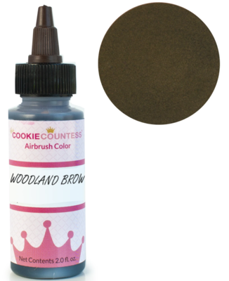 Cookie Countess - Woodland Brown edible airbrush color 2oz
