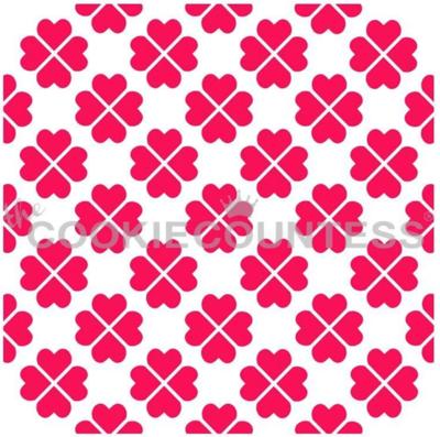 Four Leaf Clover Hearts Stencil