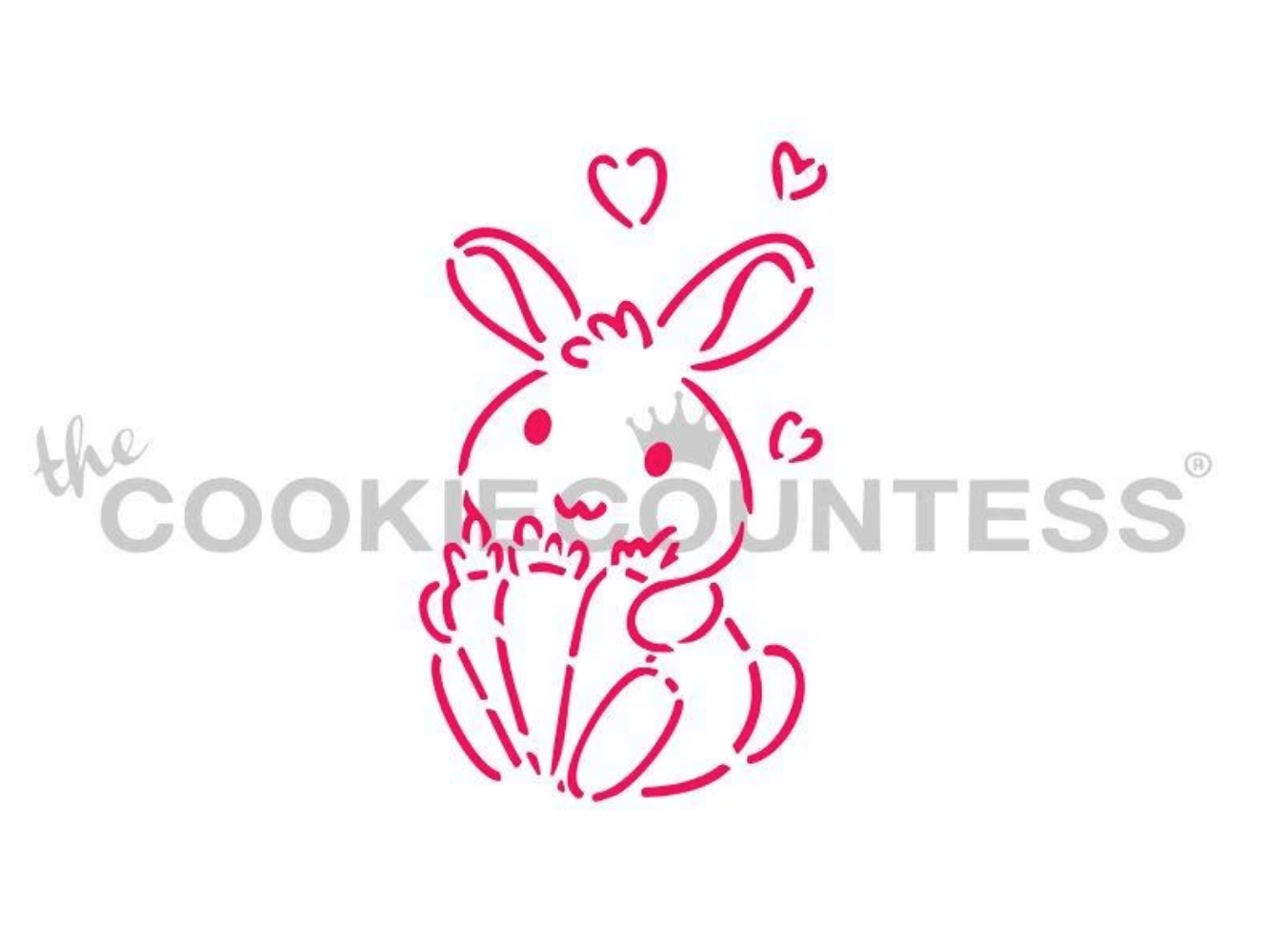 Bunny Love PYO Stencil by Cookie Countess