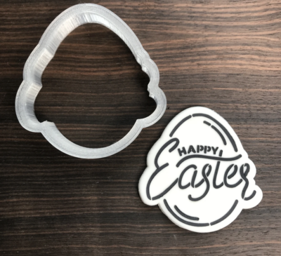 Easter Egg - Happy Easter Cookie Cutter