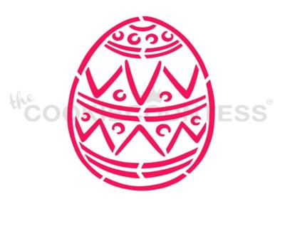 Easter Egg 1 PYO Stencil - Drawn by Krista