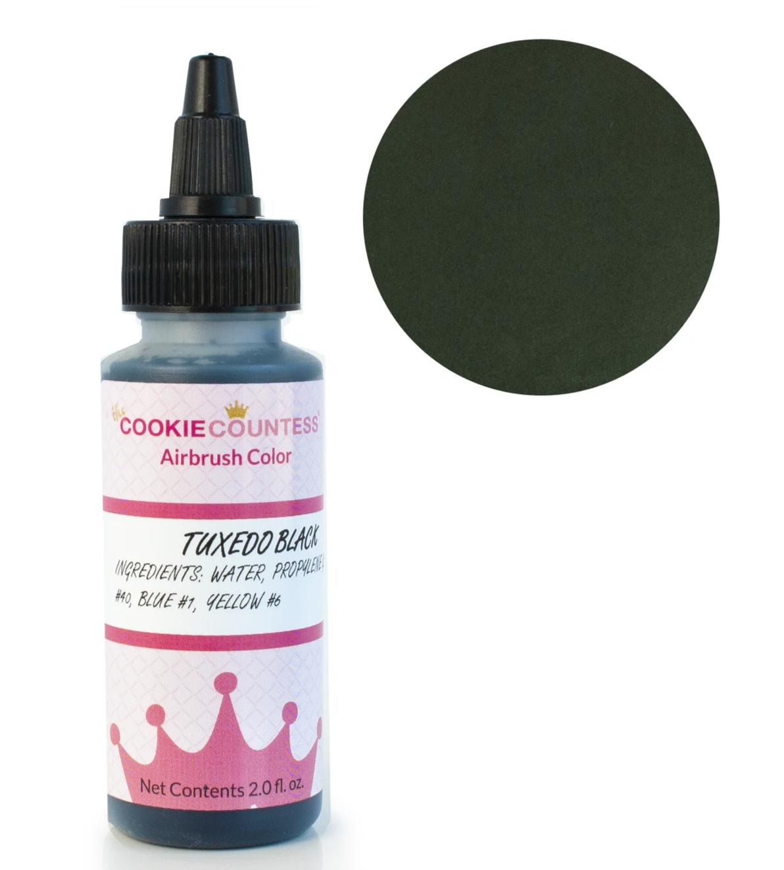 Cookie Countess - Tuxedo Black edible airbrush color 2oz