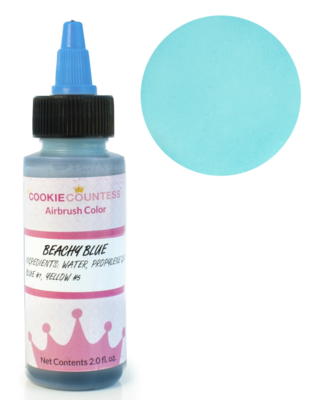 Cookie Countess - Beachy Blue edible airbrush color 2oz