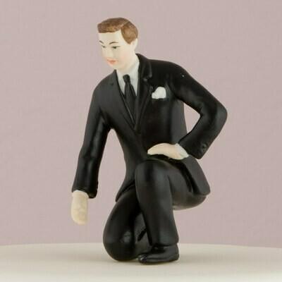 Groom Lending a Hand Cake Topper