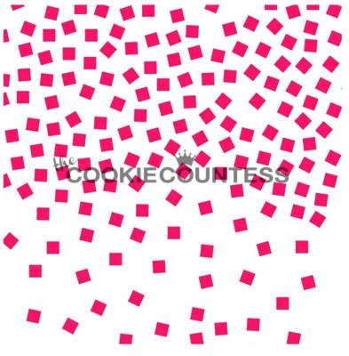 Confetti Stencil by Cookie Countess