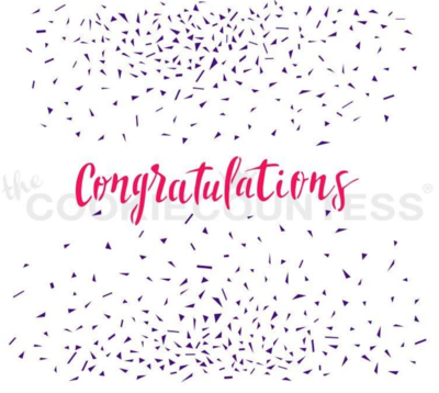 Congratulations 2 Piece Stencil Set