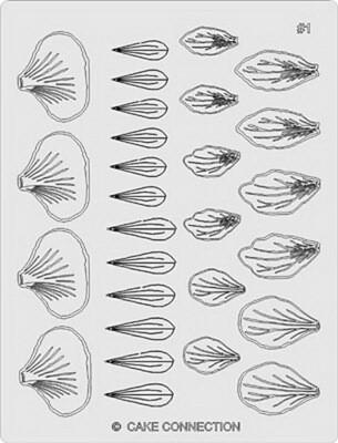 Gelatin Veining Sheet - Flower 1