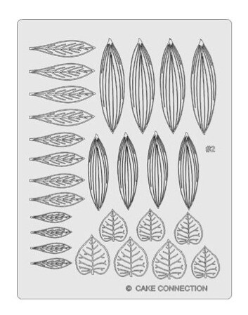 Gelatin Veining Sheet - Leaf 2