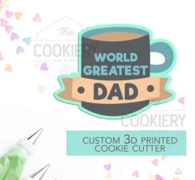 World's Greatest Dad Mug Cookie Cutter