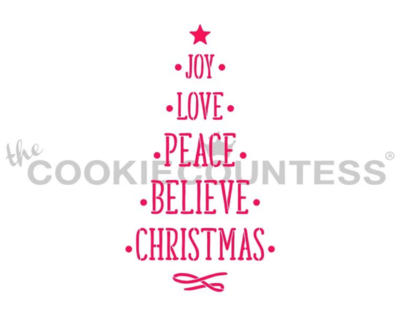 Christmas Time Tree Stencil by Cookie Countess