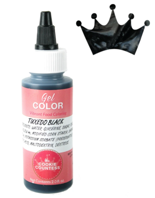 Cookie Countess Gel Icing Color 2oz - Tuxedo Black