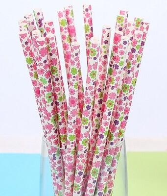 Paper Straws - Flowers