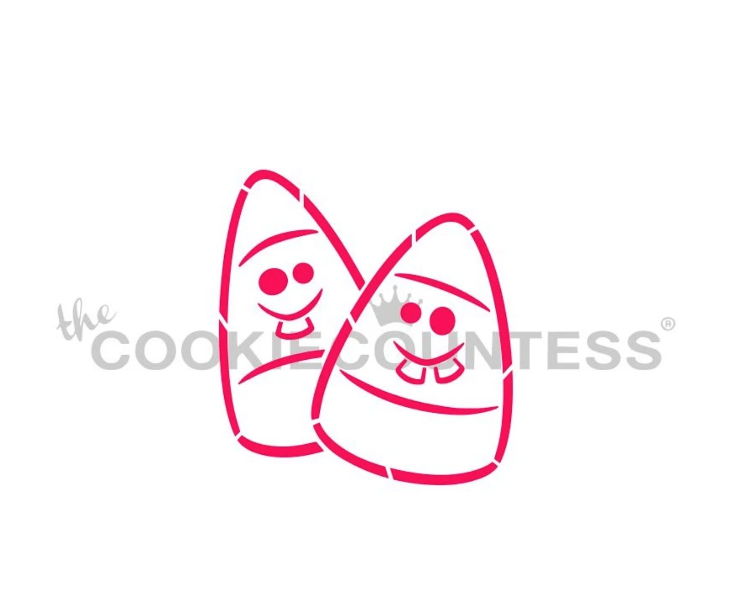 Goofy Candy Corn PYO Stencil by Cookie Countess