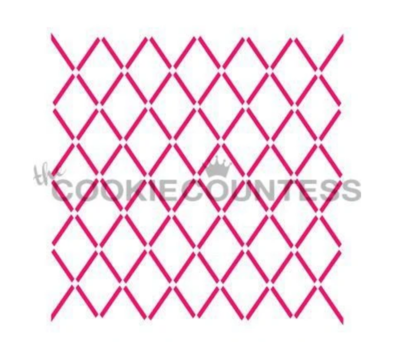 Argyle Lines Cookie Stencil by Cookie Countess