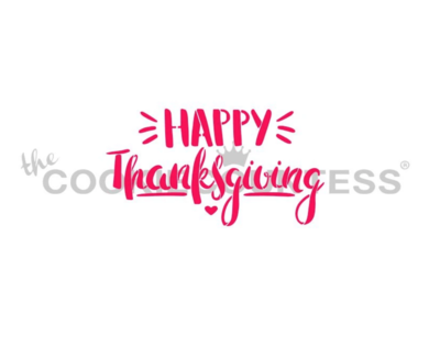 Happy Thanksgiving Fun Font Stencil by Cookie Countess