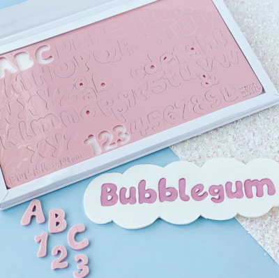 SWEET STAMP - BUBBLEGUM - UPPERCASE, LOWERCASE, NUMBERS & SYMBOLS