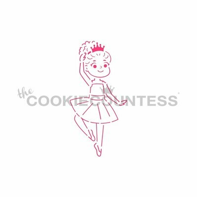 Ballerina PYO Stencil by Cookie Countess
