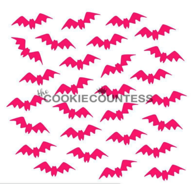 Fluttering Bats Stencil by Cookie Countess