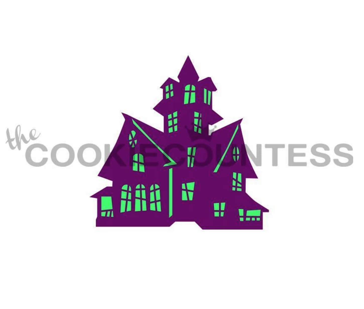 Haunted House Stencil  by Cookie Countess - 2 Piece