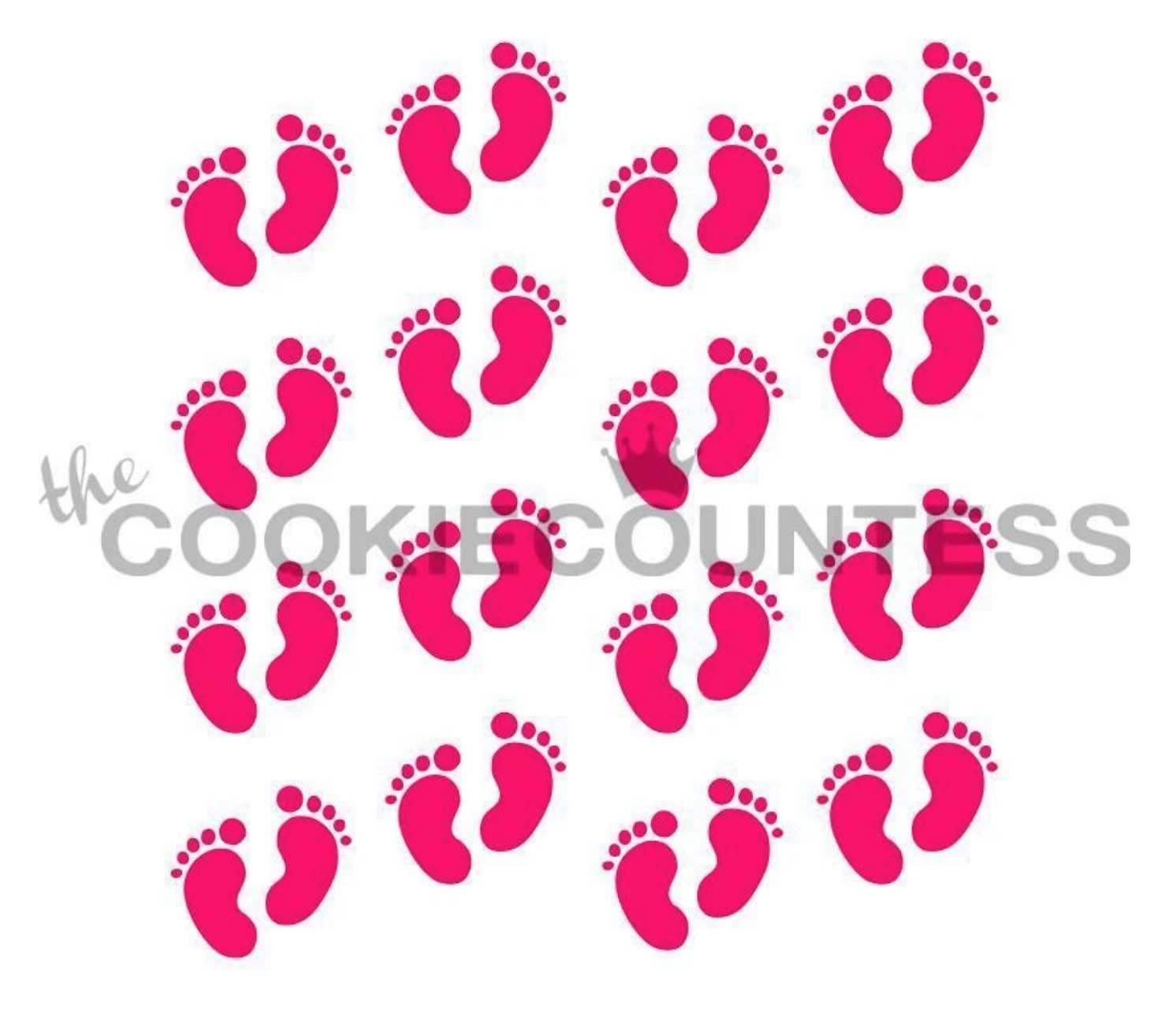 Baby Footprints Stencil by Cookie Countess