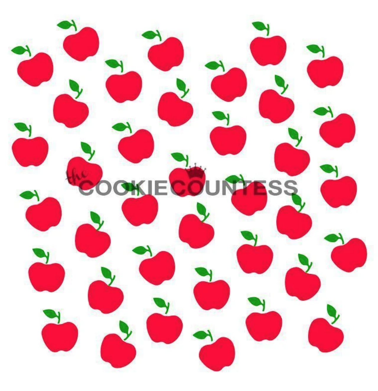 Apples Stencil by Cookie Countess - 2 Piece