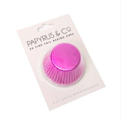 Hot Pink Foil Baking Cups