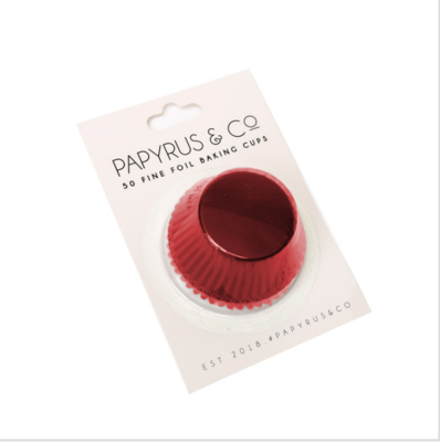 Red Foil Baking Cups