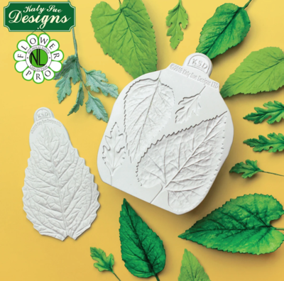 Flower Pro Sunflower / Daisy Leaves Silicone Mould and Veiner