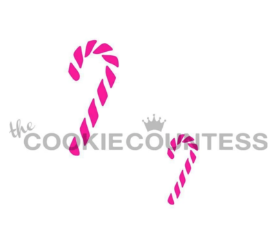 Candy Canes Stencil by Cookie Countess