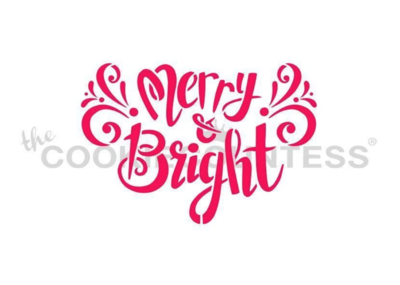 Merry & Bright Stencil by Cookie Countess