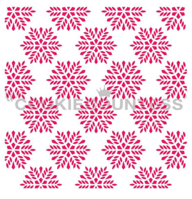 Snowflakes Background Stencil by Cookie Countess