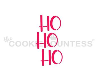 Ho Ho Ho Stencil by Cookie Countess