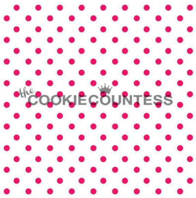 Tiny Dots Stencil by Cookie Countess