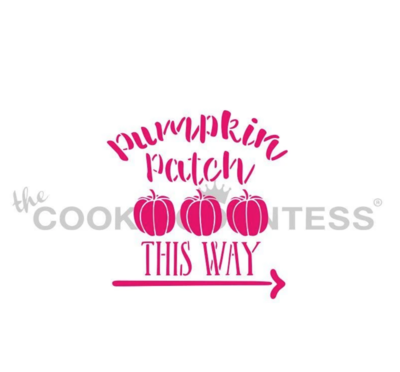 Pumpkin Patch This Way Stencil by Cookie Countess