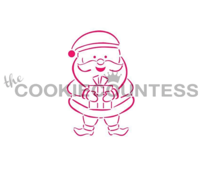 Santa PYO Stencil by Cookie Countess