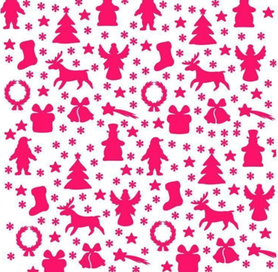 Christmas Wrapping Paper Stencil by Cookie Countess