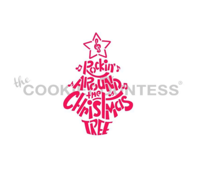 Rocking Around the Christmas Tree Stencil by Cookie Countess