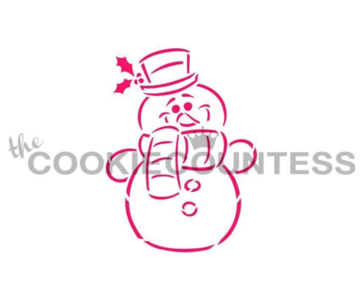 Snowman PYO Stencil by Cookie Countess