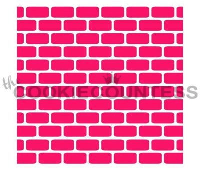 Brick Wall Stencil by Cookie Countess